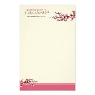 Efectos de escritorio de encargo de la flor de cer  papeleria de diseño