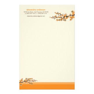 Efectos de escritorio de encargo de la flor de cer papelería de diseño