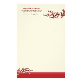 Efectos de escritorio de encargo de la flor de cer papelería