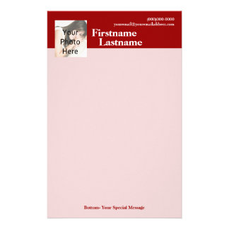 Efectos de escritorio de encargo de la foto, rojos papeleria personalizada