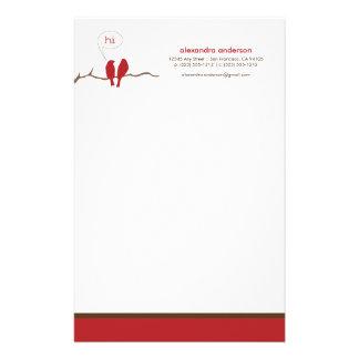 Efectos de escritorio de encargo del diseñador de papeleria personalizada