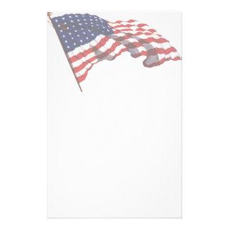 Efectos de escritorio de la bandera americana del papelería de diseño