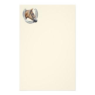 Efectos de escritorio de la cabeza de caballo papelería personalizada