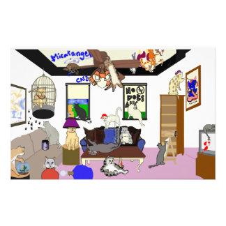 Efectos de escritorio de la catástrofe papeleria de diseño