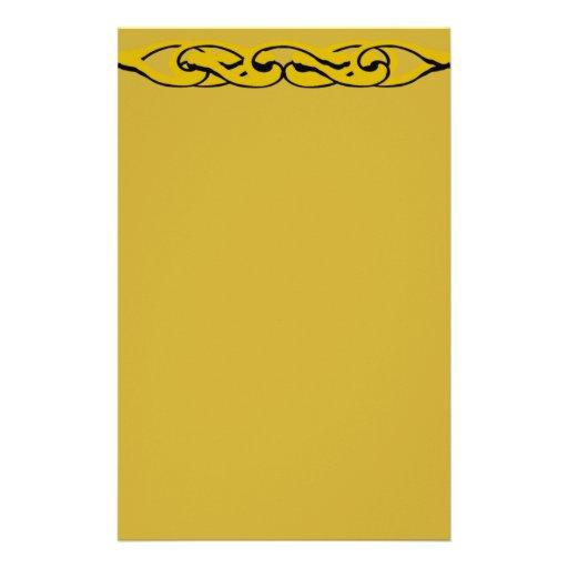 Efectos de escritorio de la cerradura del oro  papeleria