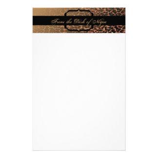 Efectos de escritorio de la elegancia del estampad papelería