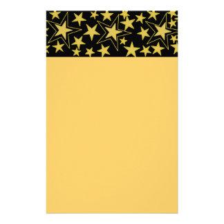 Efectos de escritorio de la estrella del oro papeleria de diseño