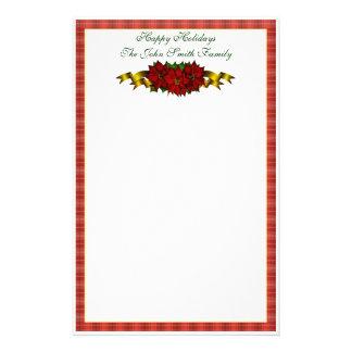 Efectos de escritorio de la familia del navidad papelería de diseño