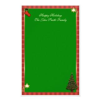 Efectos de escritorio de la familia del navidad papelería