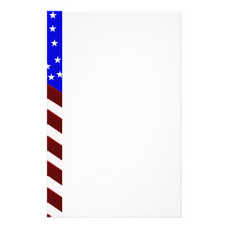 Efectos de escritorio de la frontera de la bandera personalized stationery