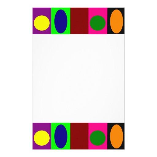 Efectos de escritorio de la frontera V del círculo Papelería