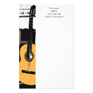 Efectos de escritorio de la guitarra de los azules papeleria