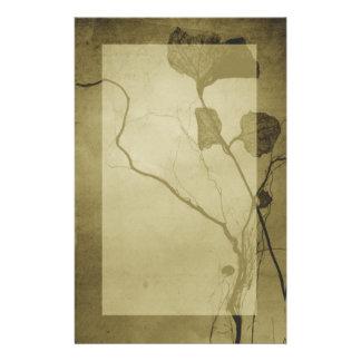 Efectos de escritorio de la hoja del vintage de la  papeleria