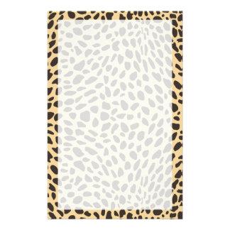 Efectos de escritorio de la impresión del guepardo papelería