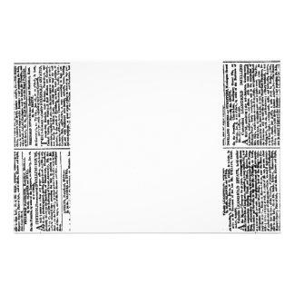 Efectos de escritorio de la impresión del periódic  papeleria de diseño