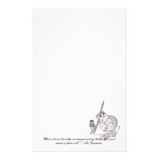 Efectos de escritorio de la letra del Chipmunk Papeleria De Diseño
