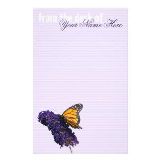"""""""efectos de escritorio de la mariposa de monarca"""" papelería"""