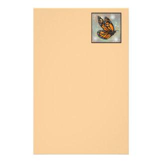 """Efectos de escritorio de la """"mariposa que brilla i papelería personalizada"""