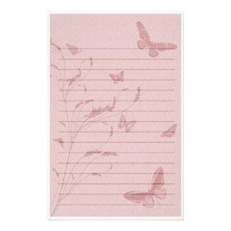 """Efectos de escritorio de la """"mariposa rosada"""" papeleria"""