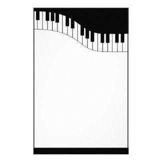 Efectos de escritorio de la música del teclado de  papelería personalizada