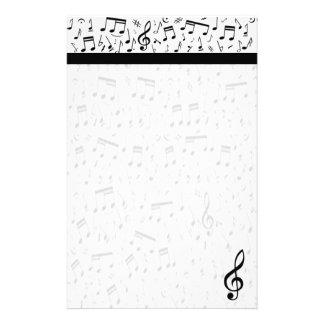 Efectos de escritorio de la nota de la música papelería personalizada