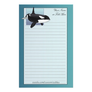 Efectos de escritorio de la orca papelería