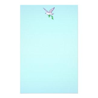Efectos de escritorio de la paloma de la paz papelería personalizada