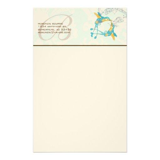 Efectos de escritorio de la rama de los colibríes papelería
