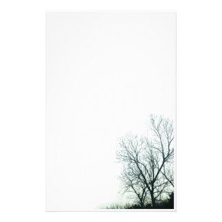 Efectos de escritorio de la silueta del árbol papelería de diseño