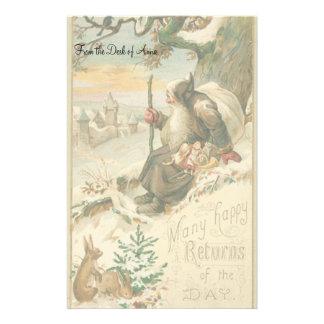 Efectos de escritorio de la tarjeta de Navidad del Papelería
