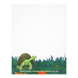 Efectos de escritorio de la tortuga membrete a diseño