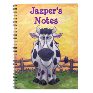 Efectos de escritorio de la vaca libro de apuntes