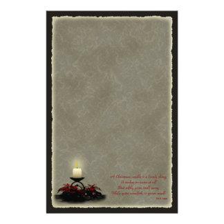 Efectos de escritorio de la vela del navidad  papeleria