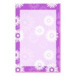 Efectos de escritorio de la violeta del verano papelería personalizada