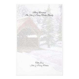 Efectos de escritorio de las escenas del invierno  papeleria