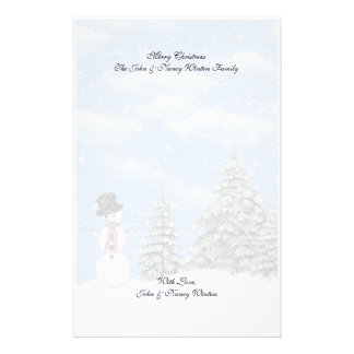 Efectos de escritorio de las escenas del invierno papelería personalizada