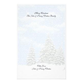 Efectos de escritorio de las escenas del invierno  papeleria personalizada