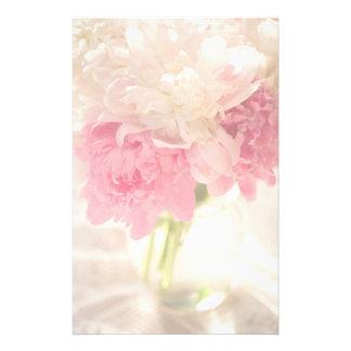 Efectos de escritorio de las flores papeleria de diseño