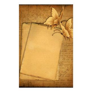 Efectos de escritorio de las mariposas del vintage papelería de diseño