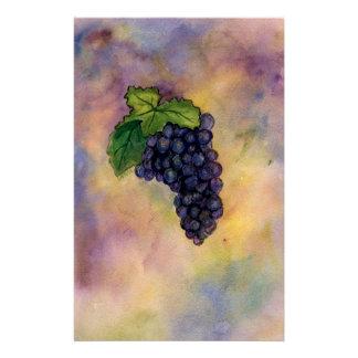 Efectos de escritorio de las uvas de vino del pino papeleria de diseño