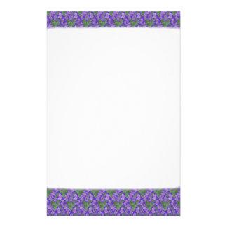 Efectos de escritorio de las violetas dulces, pape papeleria personalizada
