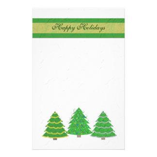 Efectos de escritorio de los árboles de navidad papelería