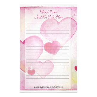 Efectos de escritorio de los corazones de la acuar  papeleria