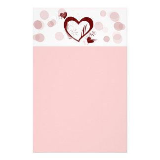 Efectos de escritorio de los corazones y de las bu papeleria personalizada