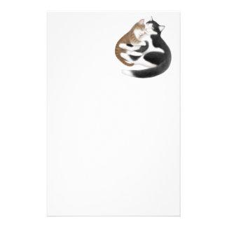 Efectos de escritorio de los gatos del amor papeleria de diseño