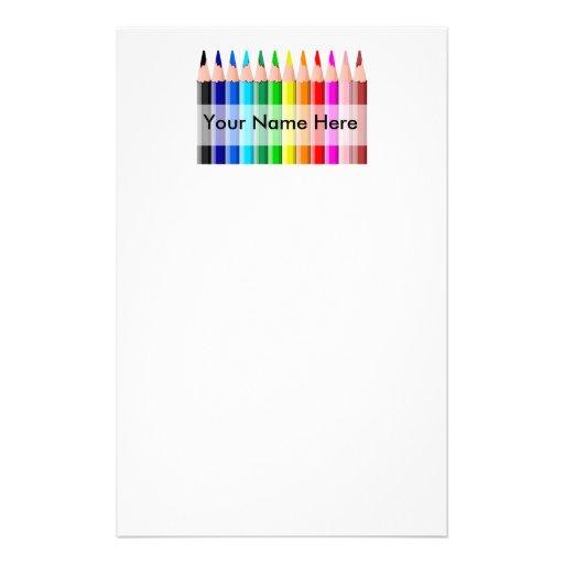 Efectos de escritorio de los lápices personalized stationery