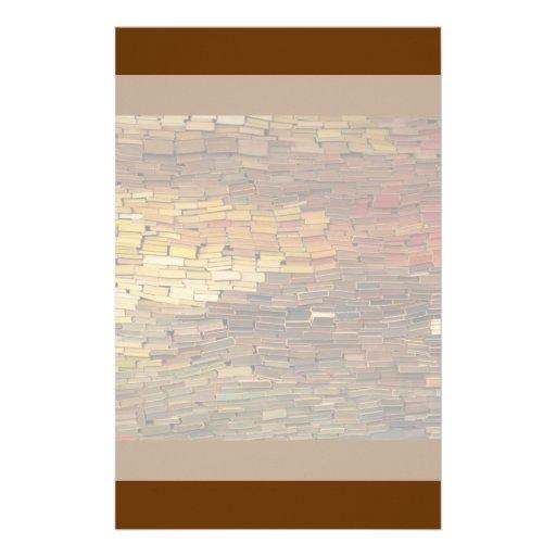 Efectos de escritorio de los libros  papeleria de diseño
