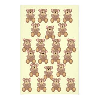 Efectos de escritorio de los osos de peluche papeleria personalizada