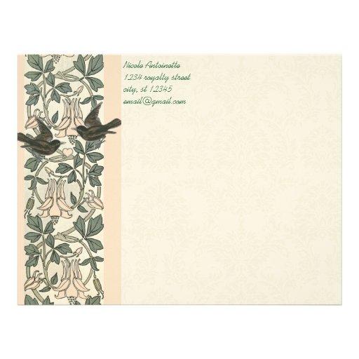 Efectos de escritorio de los pájaros del amor del  membretes personalizados