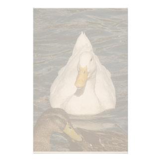 Efectos de escritorio de los pájaros del pato de papelería